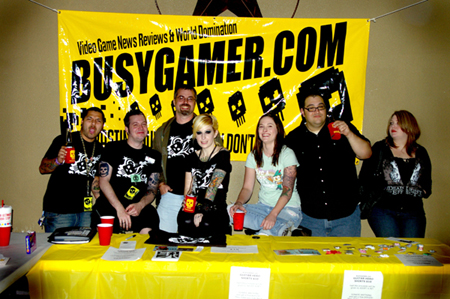 BusyGamer Crew & Supporters: Game Over, Crutchboy, Gritskrieg, Miss Genocide, Mrs. Rabke, Timmy Danger, Steph Perry