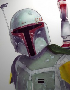 Boba Fett as drawn by Terry Parr