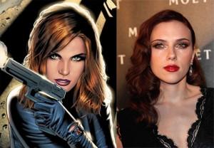 Johansson as Black Widow - Iron Man 2